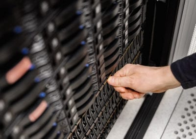 IT Engineer Installing Server Drive In San at Datacenter